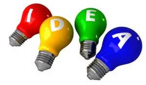 Colored Idea Bulbs